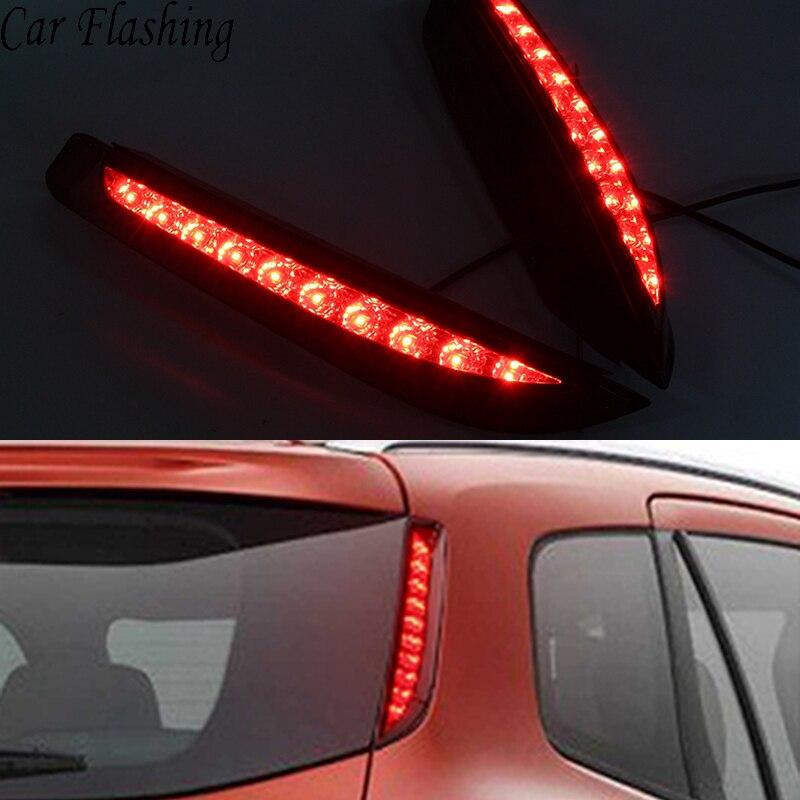 Car Flashing 2PCS For Ford Everest 2016 2017 2018 Car LED Tail Light Rear Bumper Light