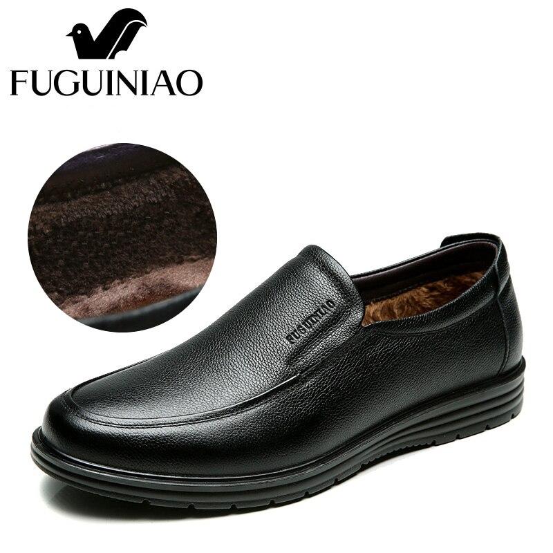 Genuíno Preto 44 38 Fuguiniao Negócios Formal cor Homens tamanho Preto De Couro Sapatos Inverno Quente Frete Grátis Dos BgfqWw0H