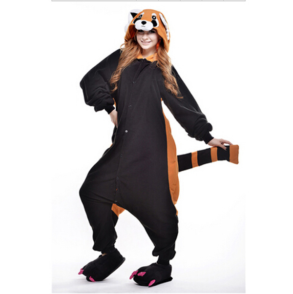 New Autunm Winter Cute Raccoon Tracksuit Pajamas Cartoon Costume Onesies Pajamas Combinaison Mujer for Woman &men