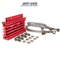 Universal 5 Colors CNC Motorcycle Oil Cooler Kit Radiator Cooling For ATV Pit Dirt Bike Motocross