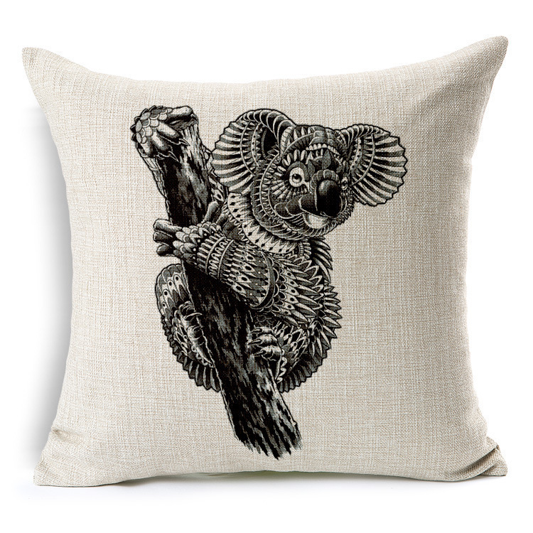 2017 Sale Seat Cushion (No fill) Elephant Decorative pillowcases Animal images Linen Throw pillow cover 18x18 inches