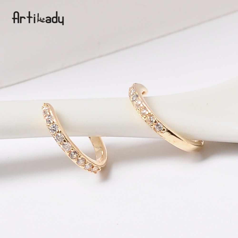 Artilady orelha manguito orelha osso brinco para presente de jóias femininas