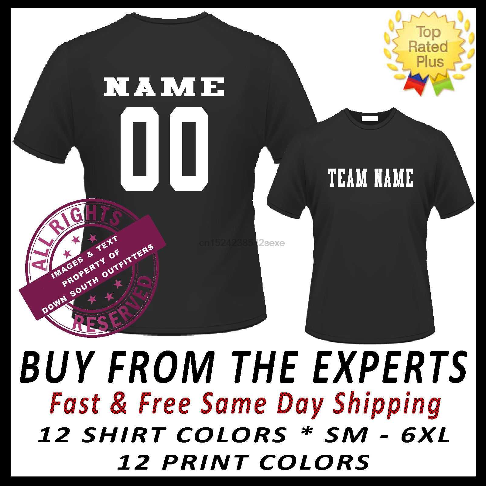 3a300f33 Custom Jersey Team Name Number Sports T-shirt Baseball Softball Football