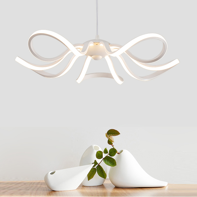 Modern 65W LED Aluminum Pendant Lights Fixtures European Arylic Shade Hanging Lamps For Dining Room Kitchen Luminaires PL581