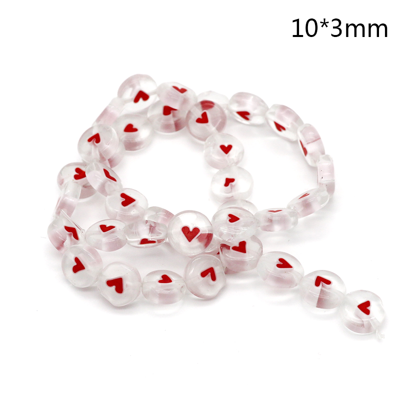 Hot Selling Pink Heart Fashion Millefiori Round Shape Lampwork Glass Beads Pink Color for Necklace Bracelet DIY Jewelry Making(China)