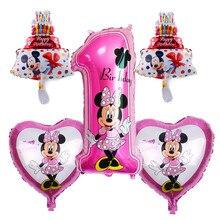 TSZWJ X-004  Free Shipping 5 pieces\lots Mickey Minnie Birthday Series Aluminum Balloon Baby Party Decorative Toys
