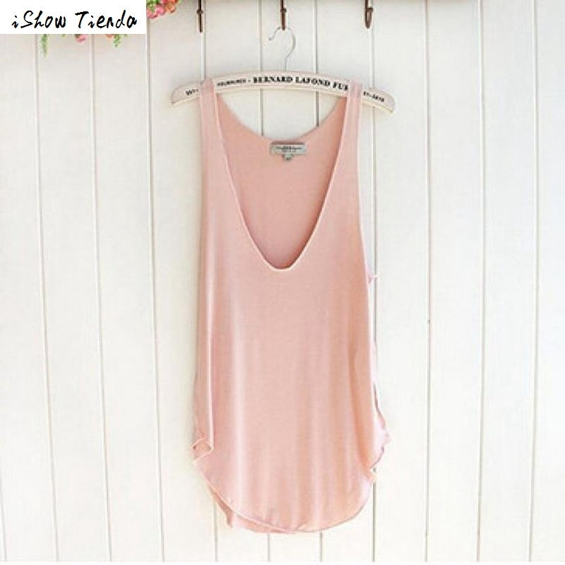 Women Top Summer Breathable Tank Top Woman Lady Sleeveless V-Neck Candy Color Vest Loose Tank Tops Ropa Mujer #1219