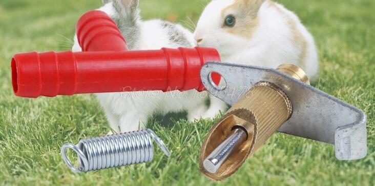 500set Nipple Water Feeder Drinker Waterer For Rabbit Nipple Drinker Waterer Poultry Feeder Bunny Rodent Mouse