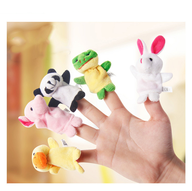 10pcs/Lot Cartoon Animal Velvet Finger Puppet Finger Toy Finger Doll Baby Cloth Educational Hand Story Baby Toy 2