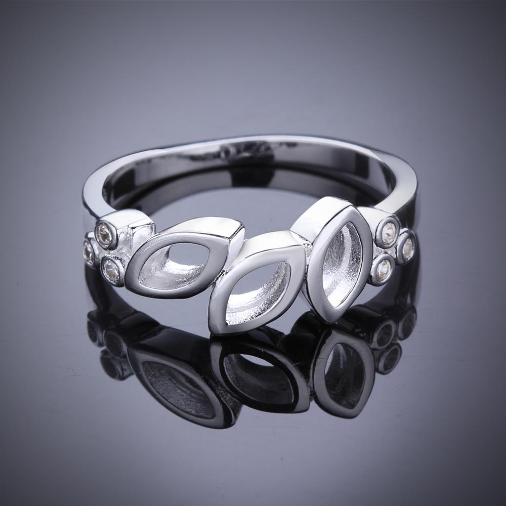 8 Stainless Steel Silver Plated fashion ring R620-8 Silver plated design finger ring for lady