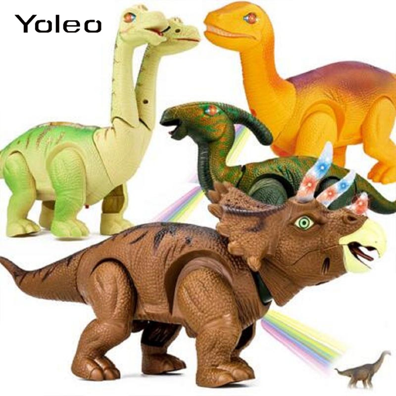Electric Light Sound Projection Egg-Laying Dinosaur Animal Model Walking Robot Kids Toy Gift For Birthday Christmas Festival