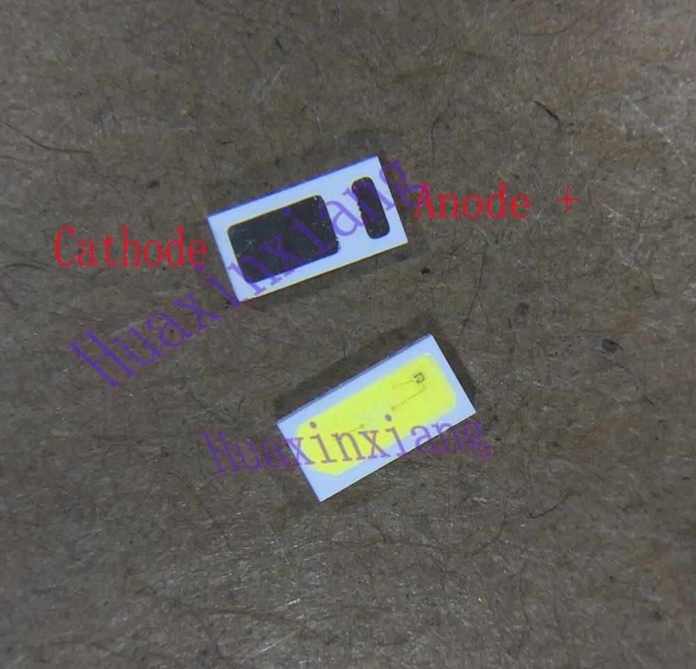 500 шт./лот Everlight SMD светодиодный 4020 3 V 0,5 W 48LM холодный белый для ТВ/ЖК-дисплей Подсветка Применение