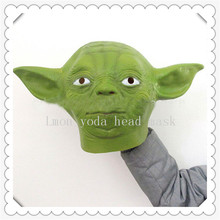 Hot !! Star Wars Yoda Green Mask,Horror Movie Halloween Costume Props Masks,Interesting Birthday Party Mask,Latex Silicone Masks