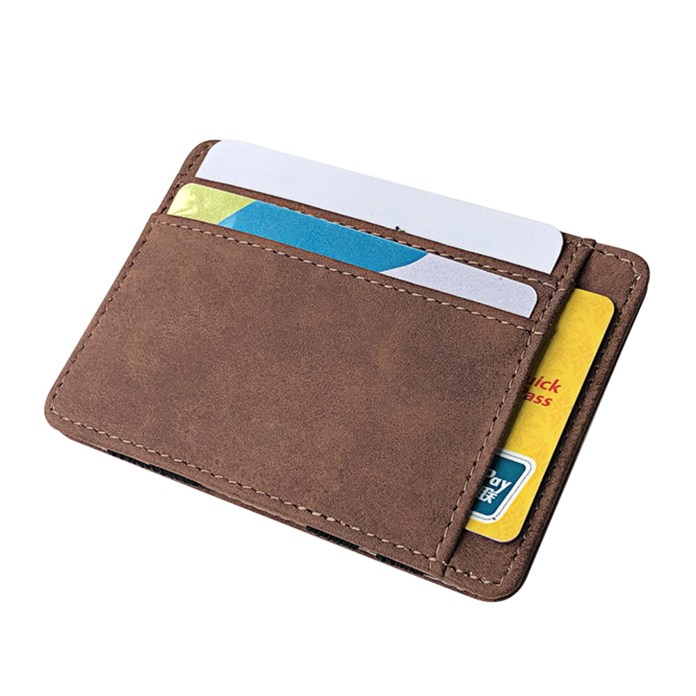 Men Wallet Small Size Magic Band Solid Color Card Holder Coin Purse LT88