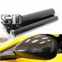 자동차 스타일링 50 센치메터 x 152 센치메터 5D 고광택 블랙 탄소 섬유 비닐 거품 필름 무료 공기 릴리스 자동차 랩 필름 자동차 DIY 데칼