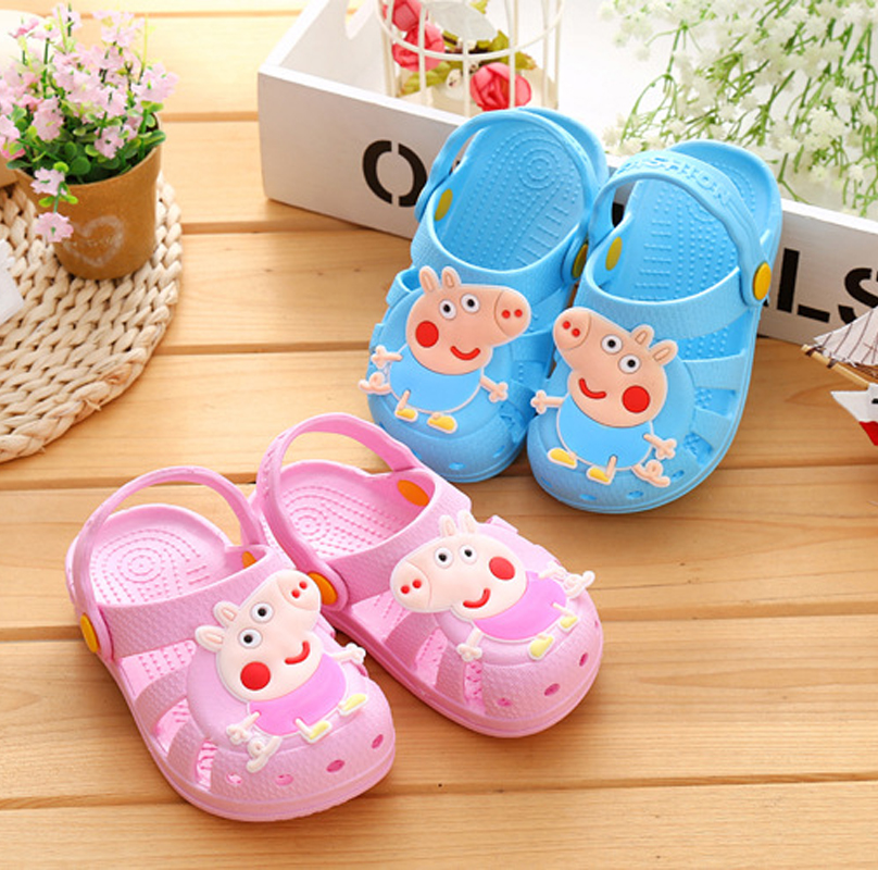 Children s Slippers Piggy Pecs Baby Sandals Toddler Shoes Cool Page Hole Shoes Non skid Beach