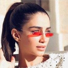 New Fashion Cute Sunglasses Women Small Narrow Sun Glasses Retro Rectangle