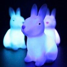 LED tilki fil hayvan gece lambası ev yatak odası masaüstü 7 değişen renkler güzel LED dekorasyon ışığı çocuk bebek başucu lambası