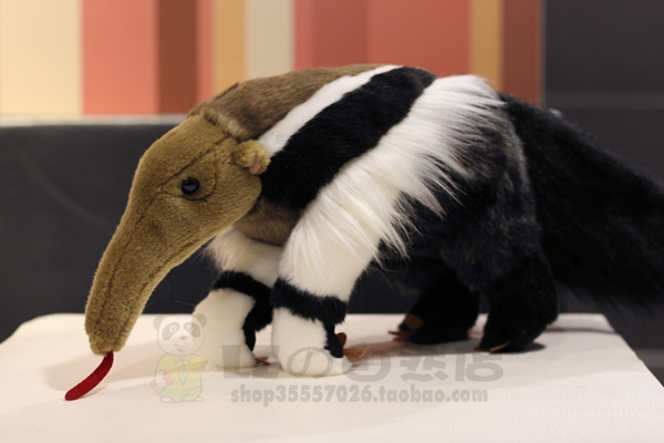 Large Anteater Doll  Plush Toys  Simulation Animals Big Stuffed Toy Rare Gifts big toy owl plush doll children s toys simulation stuffed animal gift 28cm