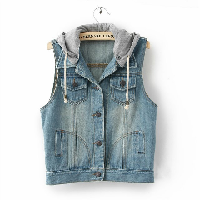 Aliexpress.com : Buy 2015 Women denim coat ladies jeans vest ...