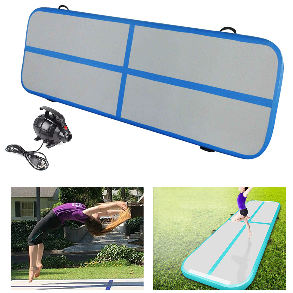 Home Use Inflatable Gymnastic Airtrack Tumbling Yoga Inflatable Mattress Trampoline Gymnastics Training Taekwondo Cheerleading