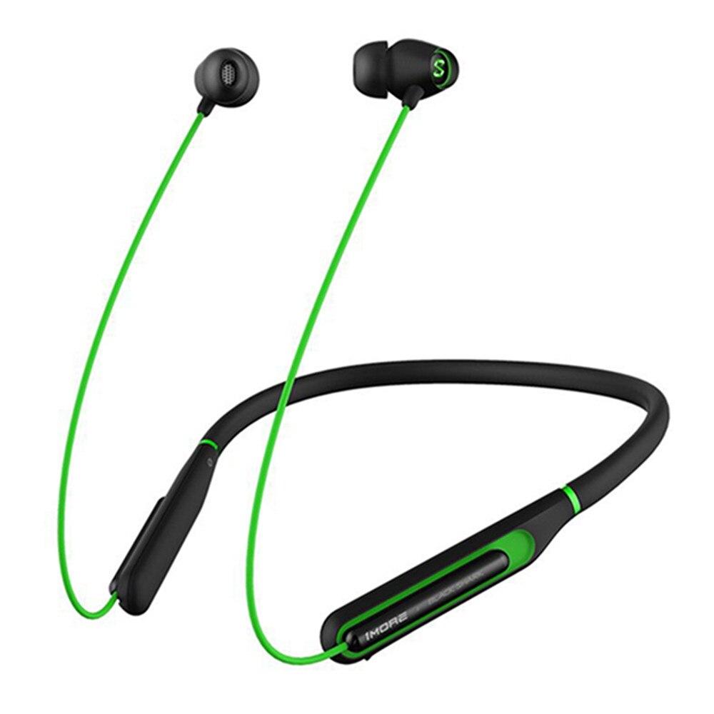 Sans fil Bluetooth 4.2 Casque Neckband Pour Xiaomi Noir Requin Led Gaming Écouteur Charge Rapide Réduction Du Bruit Des Écouteurs