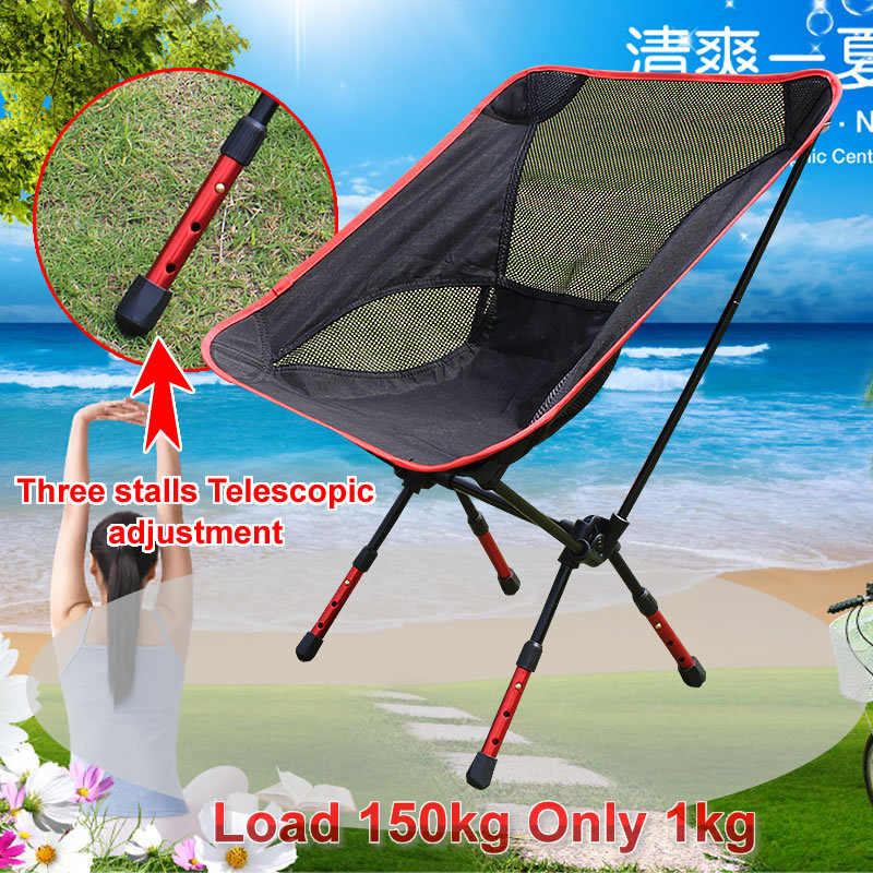 Free Shipping car Outdoor Stack Portable Foldable Stool Fishing Thickened Beach Camping Chair LOAD 145KG beach chairs portable folding camping stool chair max load bearing 145 kg silla plegable fold beach fish chair free shipping