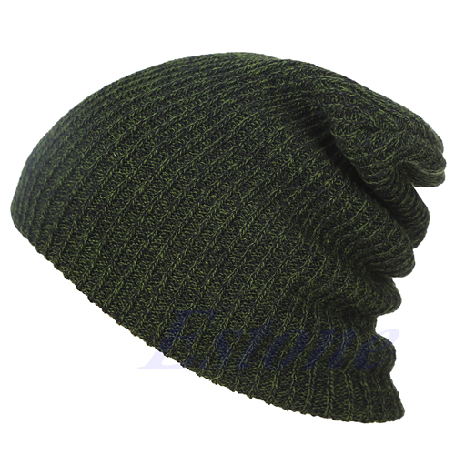 1738a0a5526 Winter Casual Cotton Knit Hats For Women Men Baggy Beanie Hat Crochet  Slouchy Oversized Hot Cap Warm Skullies Toucas Gorros Y107-in Skullies    Beanies from ...