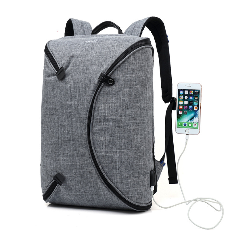 Fashion Man Backpack Large Capacity 15.6 Inch Waterproof Shockproof Natebook Laptop Backpack External USB Recharging School bagFashion Man Backpack Large Capacity 15.6 Inch Waterproof Shockproof Natebook Laptop Backpack External USB Recharging School bag