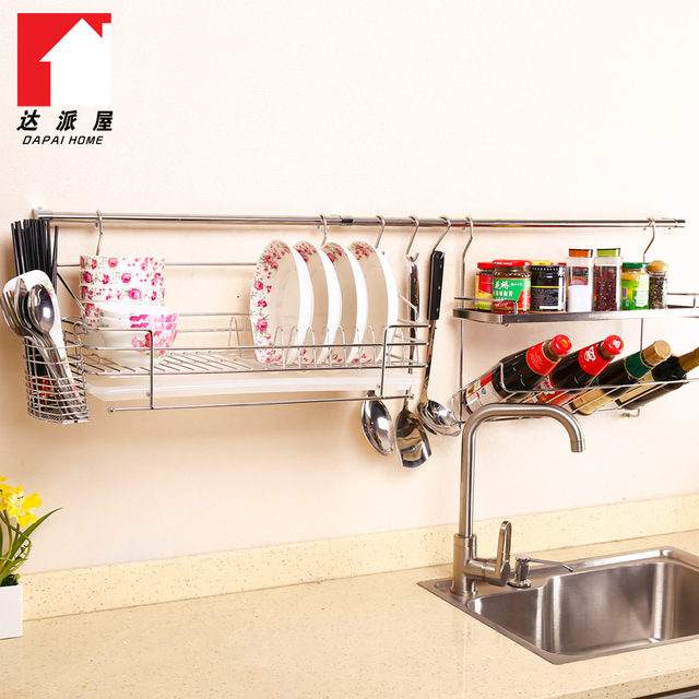 DAPAI house 304 stainless steel kitchen racks hanging wall IKEA ...