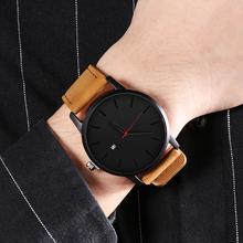 Nowy mężczyźni zegarki moda skórzana zegarek kwarcowy mężczyźni casual Sport Zegarek męski Erkek Kol Saati zegarek hombre Relogio męski tanie tanio Quartz Wristwatches 22mm Complete Calendar Shock Resistant ZSGC062 Okrągłe Skórzane No waterproof Szklane 45mm Fashion Casual