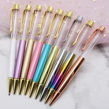 100Pcs High Grade DIY Made Crystal Colored Ballpoint Pen Metal Empty Birthday Valentines Day Gift Color Optional Wholesale