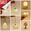 1:12 Casa de Muñecas Casa de Muñecas Accesorios Mini LLEVÓ La Lámpara de Luces de La Batería Operada Lámparas Decorativas Interruptor Sin fuente de Alimentación