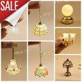 1:12 Dollhouse Огни Батарейках Декоративные Светильники Кукольный Домик Мини Аксессуары СВЕТОДИОДНЫЕ Лампы Переключатель Без Питания