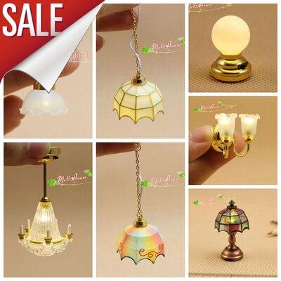 2pcs 1//12 Miniatur LED Licht Lampe Puppenhaus Zimmer Beleuchtung Zubehör