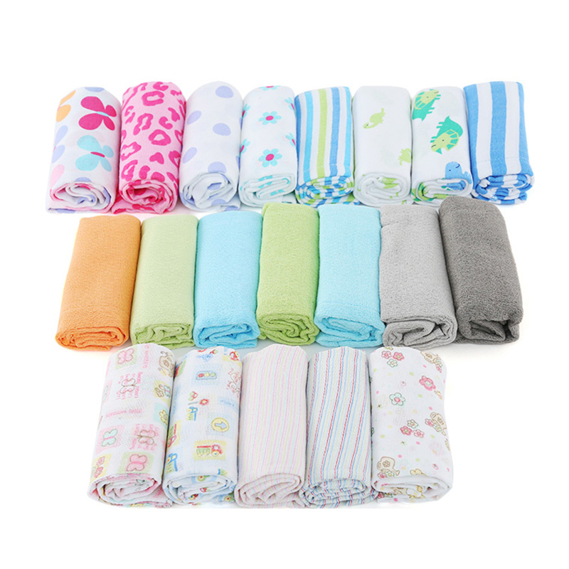 Baby Diaper Cotton Cloth Diapers Reusable Washable 100% Cotton Birdseye Fabric Breathable Cute Cartoon Printing 50*36Cm