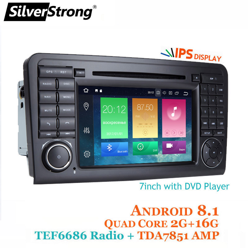 SilverStrong Android8.1 Car DVD For Mercedes Benz ML Series W164 ML GL android car dvd audio dvr