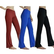 Для женщин женские брюки для занятий йогой и спортом Упражнения Фитнес Бег мотобрюки Foldover Хизер широкие брюки плюс размеры тренировки спортивные штаны