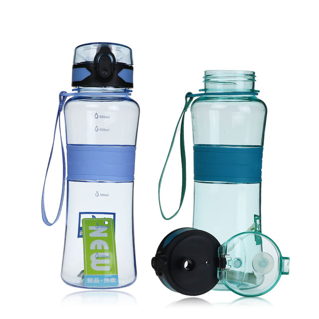 Leak-Proof Seal 300ml/400ml/600ml/ Plastic Drinking Water Bottles With Cover Lip Filter