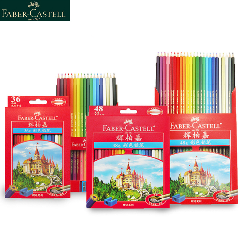 Faber Castell 36/48/72 Color Pencil For School Lapiz Oily Professional Sketch Pencils Rainbow Colors Lapis Escolar Stationery