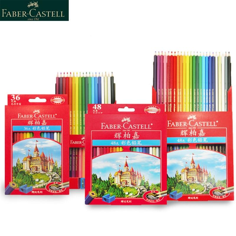 Faber Castell 36/48/72 Color Pencil for School Lapiz Oily Professional Sketch Pencils Rainbow Colors Lapis Escolar Stationery armand dupree color naturals lapiz labial lipstick palo de rosa zt3