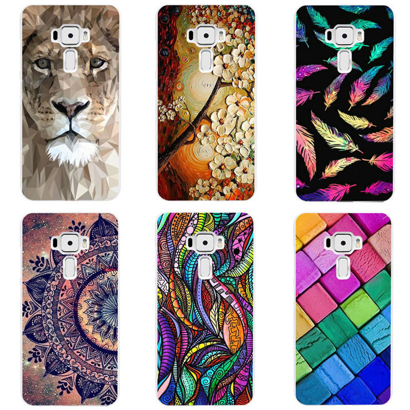 Cartoon Case For Asus ZenFone 3 ZE520KL,Mobile Phone Shell, TPU Painted Beautiful Cartoon Color Painting Case.9 Colors!