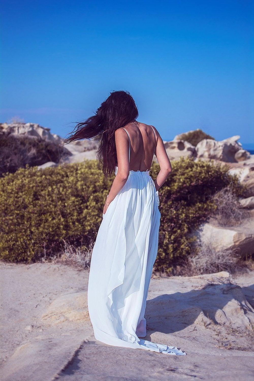 Robe de soirée longue blanche élégante 2019 soirée gownchérie dentelle sans manches fente Slim femmes robes de soirée formelles