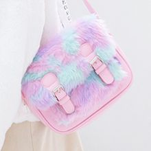 Cute Fluffy Rainbow Messenger Bag 2colors