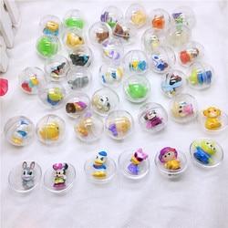 30 unds/pack 28mm de diámetro de plástico transparente bola cápsulas de juguete con interior de diferentes figuras de juguete para máquina expendedora de niños regalo