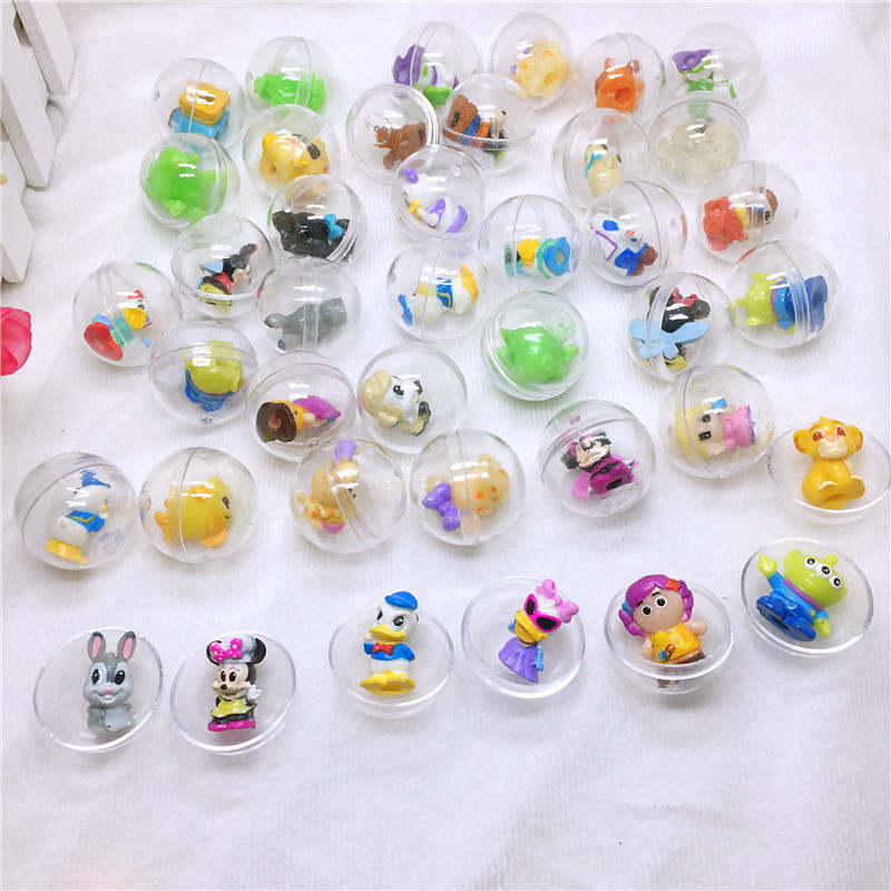 30pc/pack 28mm diameter transparent plastic ball capsules toy with inside different figure toy for vending machine as kids gift 2 sets pack 0 28mm 100