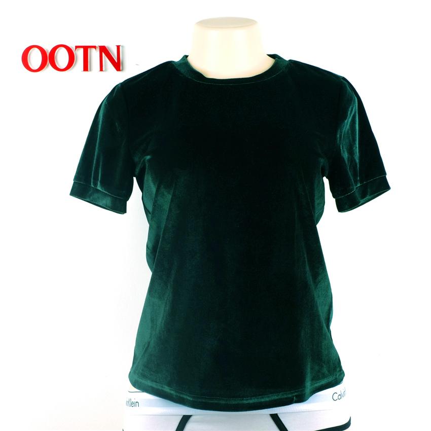 HTB1vV5kSXXXXXauXFXXq6xXFXXX7 - Summer Tops Short Sleeve Cotton Velvet T Shirt Women