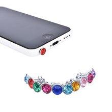53edeea33a4 10 unids Bling diamante Tapones para polvo universal 3.5mm auricular del  teléfono celular para el iPhone 6 5S auricular de Samsu.