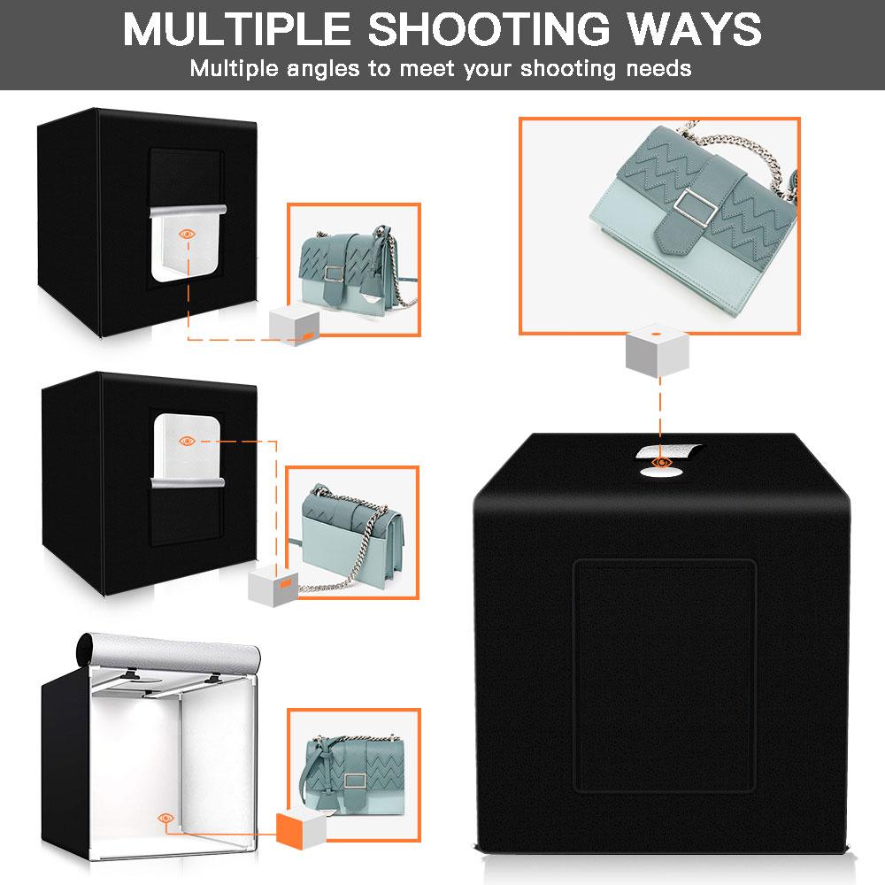 Spash M60II 60*60 Cm Photo Studio Light Box Softbox Foto Doos 48W CRI92 Lightbox Tent Voor Sieraden speelgoed Schoenen Product Fotografie - 3