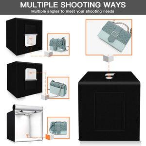 Image 3 - Spash caja de luz portátil para estudio fotográfico caja de luz para foto de 60 cm con fondo de 3 colores, tienda de mesa para fotografía, caja de luz para sesión de fotos